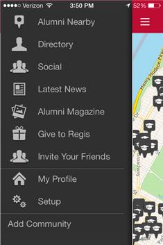 Regis Mobile App